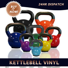 Kettlebell Vinyl Dipped With Flat Rubber Base Home or Gym Training for All Ages