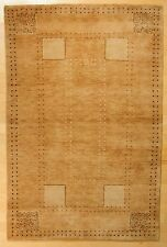 4X6 Hand Knotted Modern design in India Wool Nepali Rug #21334