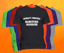 World's Greatest MARKETING MANAGER T-Shirt  Career Job Occupation TEE