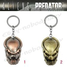NEW Alien vs Predator Bio Helmet Mask Teeth 12cm Metal Key Ring Chain In Box #03
