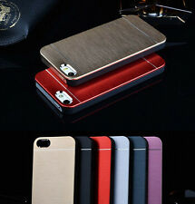 Luxury Metal Aluminum Brushed &PC Hard Back Cover Case Skin For Apple iPhone