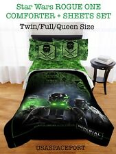 STAR WARS Rogue One COMFORTER + SHEETS SET Twin/Full Single/Double Bed in a Bag