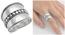 Sterling Silver 925 LADIES MEN'S HANDMADE BALI BEADS ROPE DESIGN RING SIZE 5-12