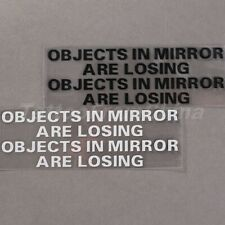 Vinyl OBJECTS IN MIRROR ARE LOSING Mirror Race Car Rearview Window Decal Sticker