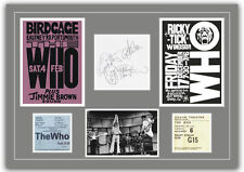 The Who  - Autographs, Tickets, Concert Posters Memorabilia Poster 2 Sizes