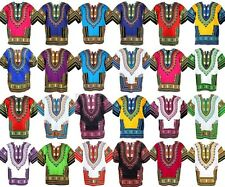 Dashiki Mens Shirt African Top Hippie Vintage Tribal Boho Womens Blouse One Size