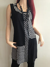 BNWT JESSIE LADIES SLEEVELESS ZIP FRONT PANEL TUNIC DRESS SIZE 10 12 14 16 18
