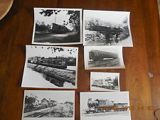 Lot of 7 Vintage Railroad Photo's