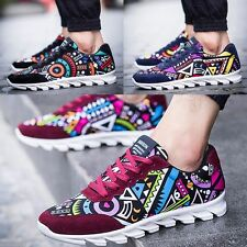 Men Stylish Breathable Sport Flats Flower Printed Sneakers Running Shoes Loafers