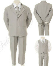 New Boys Children Formal Wedding Party Easter Tuxedo Suit Gray size: 5 - 20