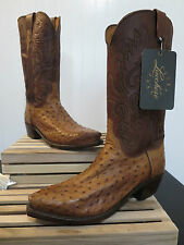 """Lucchese 1883 Men """"Chisum"""" Pin Ostrich + Ranch Hand Boot N1062 5/4 size 8.5EE..."""