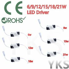 New Dimmable LED Light Lamp Driver Transformer Power Supply 6/9/12/15/18/21W LO