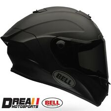 BELL STAR MATTE FLAT BLACK SOLID FULL FACE MOTORCYCLE HELMET DOT SNELL XS - XXL