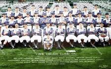 BS534 Chicago Cubs Team Picture 1941 Kiki Cutler Baseball 12x18 Colorized Photo