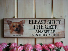 HANDMADE SHUT THE GATE SIGN CLOSE THE GATE GARDEN SIGN HOUSE SIGN HOUSE PLAQUE