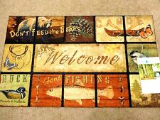 "Masterpiece ""Don't Feed Bears"" Door Mat Rug Apache Ecosmart Recycled Rubber NEW"