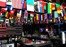 100-200 pcs home Banner decoration different Countries Flags bar party 25-65M
