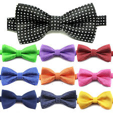 Cute Children Boys Kids Wedding Satin Bow Tie New Solid Bowtie Pre Tied Party