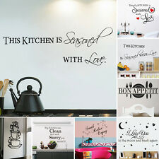 DIY Quote Words Art Removable Vinyl Wall Sticker Decal Mural Home Room Decor ES