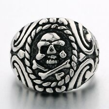 Sz9-Sz13! Newest 316L Stainless Steel Pirate Skull Men's unique Motorcycle ring