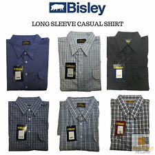 BISLEY LONG SLEEVE SHIRT Everyday Casual Business Work Cotton Blend Check S-5XL