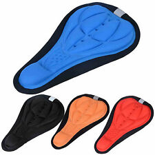 Anti-slip 3D GEL Bike Bicycle Cycling Extra Comfort Saddle Seat Cushion Cover FS