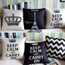 Home Decoration Linen Cotton Blended Cushion Cover Throw Pillow Case Sofa Square