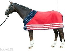 Stars & Stripes USA Flag FLEECE Cooler Travel Rug Horse Pony Western Barrel