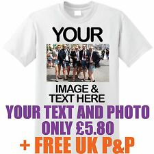 Personalise Your Image Photo Here - Custom T Shirt Printing Stag Hen Party lot