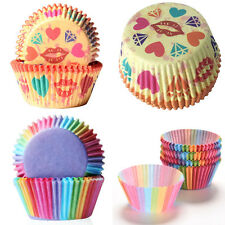 100pcs Colorful Paper Cupcake Liner Case Holder Wrapper Muffin Baking Cup Party