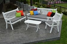 6 Ft Pine Traditional Daybed, Bench, Chair & Coffee Table Set - 8 Stain Options