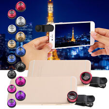 3in1 Fish Eye+ Wide Angle + Macro Camera Clip-on Lens for Cell Phone CA