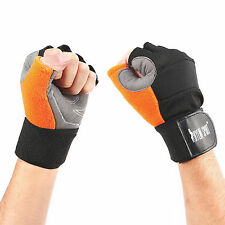 NEW MEN GYM GLOVES FITNESS WEIGHT LIFTING TRAINING BODYBUILDING CROSSFIT