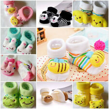 0-12 Month Hot Cartoon Newborn Baby Girl Boy Anti-Slip Socks Slipper Shoes Boots