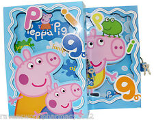 -CLEARANCE- Peppa Pig :LARGE Lockable Diary Box with Notepad: ASSORTED DESIGNS