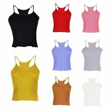 Women Tops Vest Tank Soft Camisole Sleeveless Blouse Shirt Party Bustier 8Colors