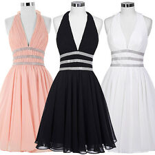 Mini Short Chiffon V Neck Cocktail Homecoming Dress Evening Ball Party Prom Gown