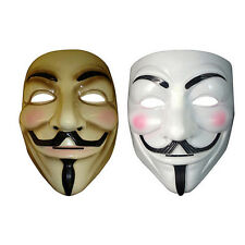 V for Vendetta Mask Halloween Party Mask Anonymous Guy Fawkes Costume 1F2
