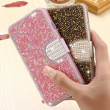 Luxury Bling Rhinestone Diamond Leather Case Cover For Samsung Galaxy/iPhone