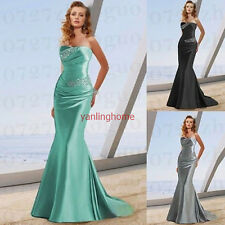 New Long Mermaid Evening Bridesmaids Dresses Wedding Prom Dress Gown Size 6-16