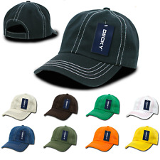 1 Dozen DECKY New Contra Stitch Polo Washed Cotton Baseball Caps Hats Wholesale