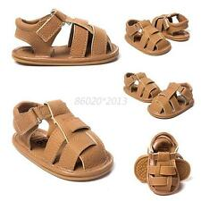 Baby Boy Soft Sole Prewalker Sandals Shoes Toddler Summer PU Leather Prewalker