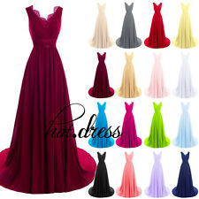 New STOCK Formal Long Evening Wedding Bridesmaid Dress Prom Party Ball Gown 6-18