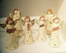 Xmas Natures Angels Figurine Sculpture Ornament - Various Designs To Collect