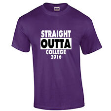Class of 2016 COLLEGE Graduation T Shirt Graduate Tee Straight Outta Purple