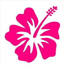 "Hibiscus Vinyl Decal Hawaiian Aloha Surf Flower 4"" Sticker"