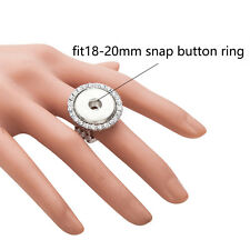 Wholesale Lots strech Ring W/Rhinestone Fit 18mm Snaps Buttons size free SR18-9