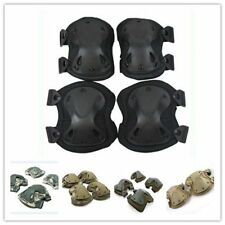 2 Pair Skateboard Paintball Spots Protective Support Knee + Elbow Pads Set Gear