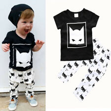 Newborn Baby Summer Clothes Set Boy Short Sleeve T-Shirt+Pants Tiny Outfit NWT