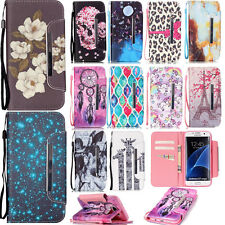 Wallet Card Holder PU Leather Case for Samsung iPhone LG Phone Protective Cover